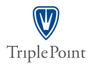 TP Logo blue shield grey type Artboard 1